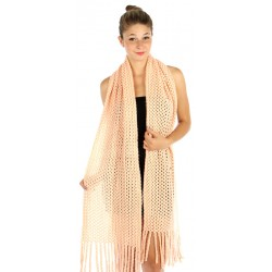 Long Knit Scarf Peach