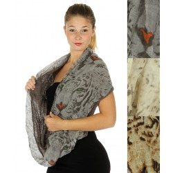 Tiger Solid Two Layer Infinity Scarf