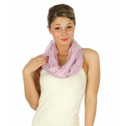 Floral Laced Infinity Scarf