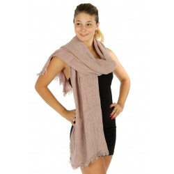 Oversized Unfinished Hem Scarf