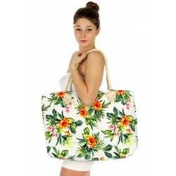 Tropical Flower Tote Beach Handbag