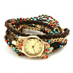 Braided Suede Watch Bracelet