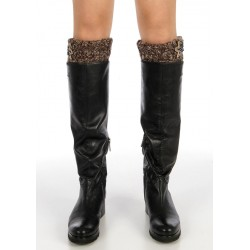 Applique Marled Knit Boot Toppers