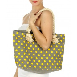Polka Dots Tote Beach Handbag