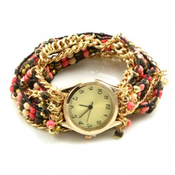 Beaded Chain Watch Bracelet
