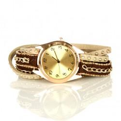 Faux Leather Watch Bracelet