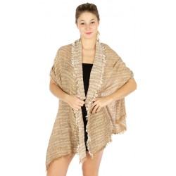 Tweed Effect Knit Scarf