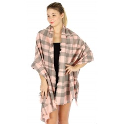 Classic Plaid Woven Blanket Scarf