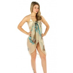 Feather Pattern Beach Wrap