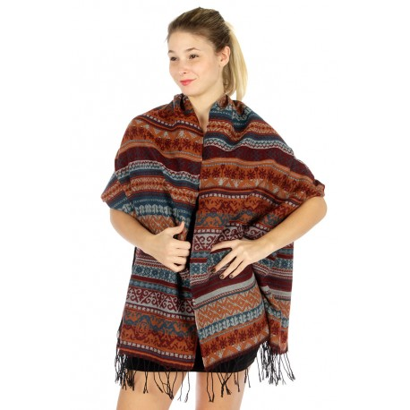 Tasseled Wooltouch Bohemian Scarf