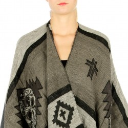 Luxe Sugar Skull Poncho Scarf