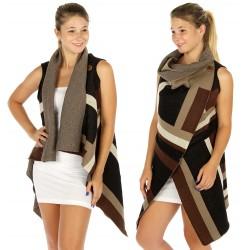 Colorblock Knit Vest