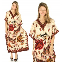 Paisley Flower Long Kaftan