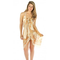 Paisley Flower Print Large Beach Wrap
