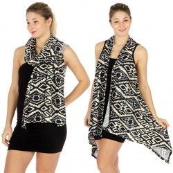 Abstract Geo Hi Low Vest Scarf
