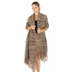 Oversized Marled Tassel Knit Scarf