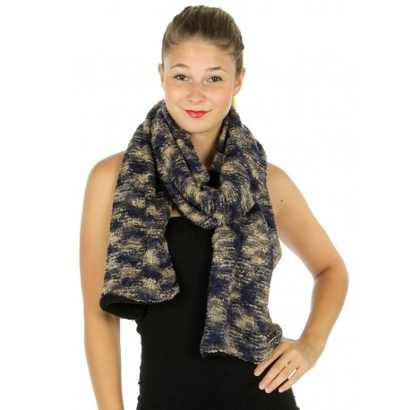 Long Multicolored Knit Scarf